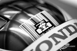 Detail of Jenson Button's helmet