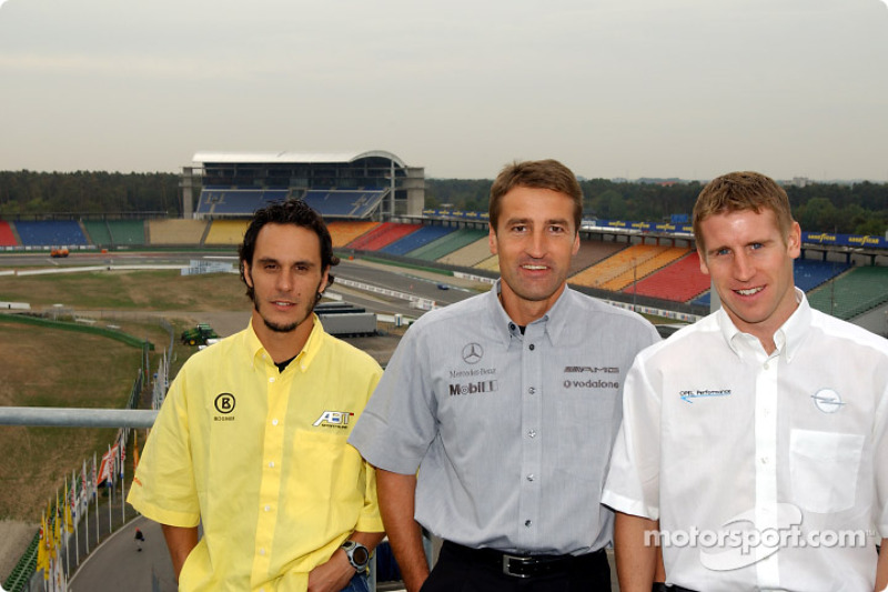 Press conference: Laurent Aiello, Bernd Schneider and Peter Dumbreck