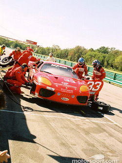 Pitstop for #33 Scuderia Ferrari of Washington Ferrari 360GT: Cort Wagner, Brent Martini