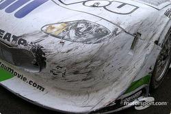 Damage on Tomy Drissi car