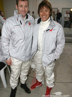 Tom Kristensen and Seiji Ara