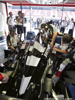 Jenson Button gets ready