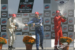 Podium: champagne for Memo Rojas, Leonardo Maia and Colin Fleming