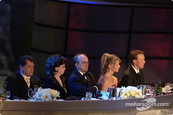 Robbie Reiser, Jack Roush and Matt Kenseth at the head table