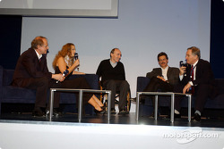 BMW Motorsport party: Prof. Burkard Goeschel, Barbara Schoeneberger, Frank Williams, Dr Mario Theissen and Patrick Head