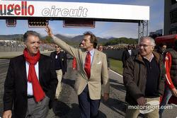 Piero Ferrari, Luca di Montezemolo and Giuseppe Morchio