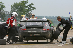 Pitstop for #14 Autometrics Motorsports Porsche GT3 RS: Cory Friedman, Thomas Soriano, Bransen Patch
