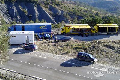 Subaru World Rally Team testing