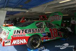 Joe Gibbs Racing garage area