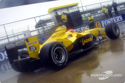 Timo Glock does a pitstop