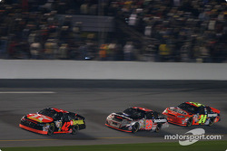 Jamie McMurray, Kevin Harvick and Jeff Gordon