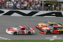 Dale Earnhardt Jr., Jamie McMurray and Jeff Burton