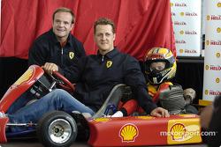 Shell conferencia de prensa: Michael Schumacher y Rubens Barrichello
