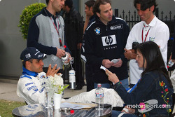 Juan Pablo Montoya and wife Connie
