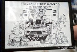 Cartoon for M-Sport's 100th world rally