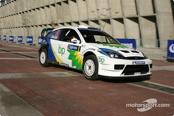 WRC cars arrive in Leon