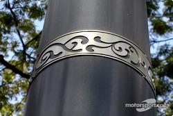 Design on lamp post