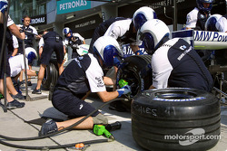 Pitstop practice at Williams