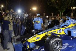 Mild Seven pit party, Zouk Nightclub Kuala Lumpur: Fernando Alonso, Franck Montagny ve Jarno Trulli