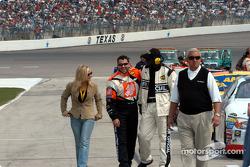 Tony Stewart enjoying the pre-race