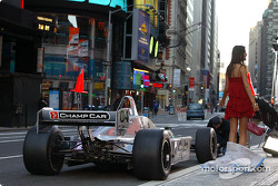 Second commercial: the model and the two-seater Champ Car
