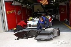White Lightning Racing garage area