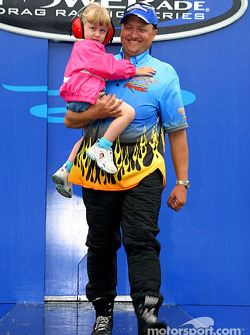 Jeff Arend with his daughter