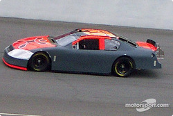 Robby Gordon tests his car