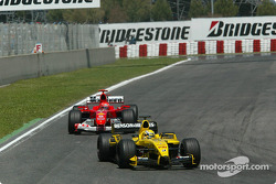 Giorgio Pantano and Michael Schumacher