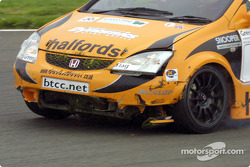 Matt Neal's damaged front