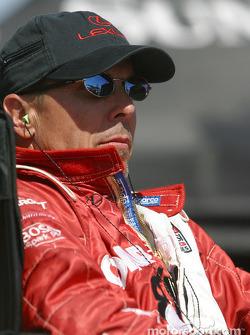 Scott Pruett waits for his turn at the wheel