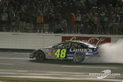 Jimmie Johnson does another burnout