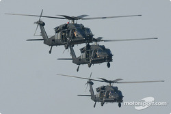 Helicopters flyover