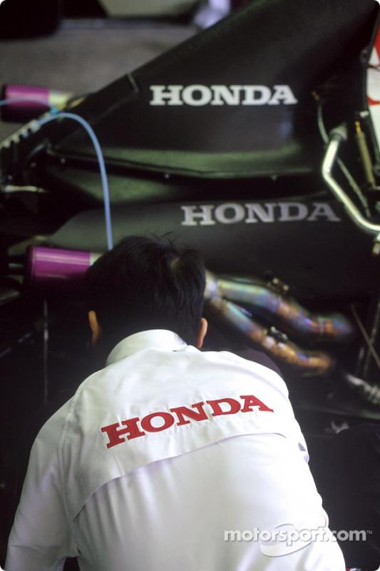 Área de garage de BAR-Honda