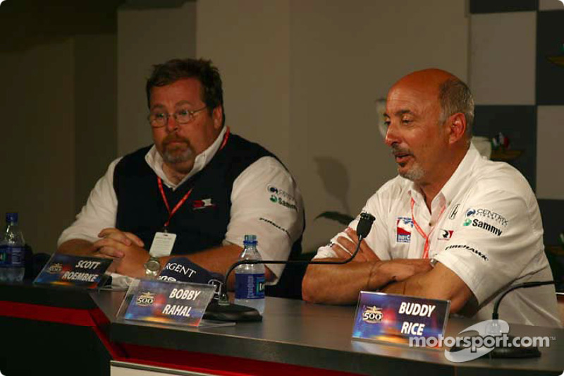 Press conference: Scott Roembke and Bobby Rahal