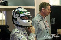 Allan McNish getting ready
