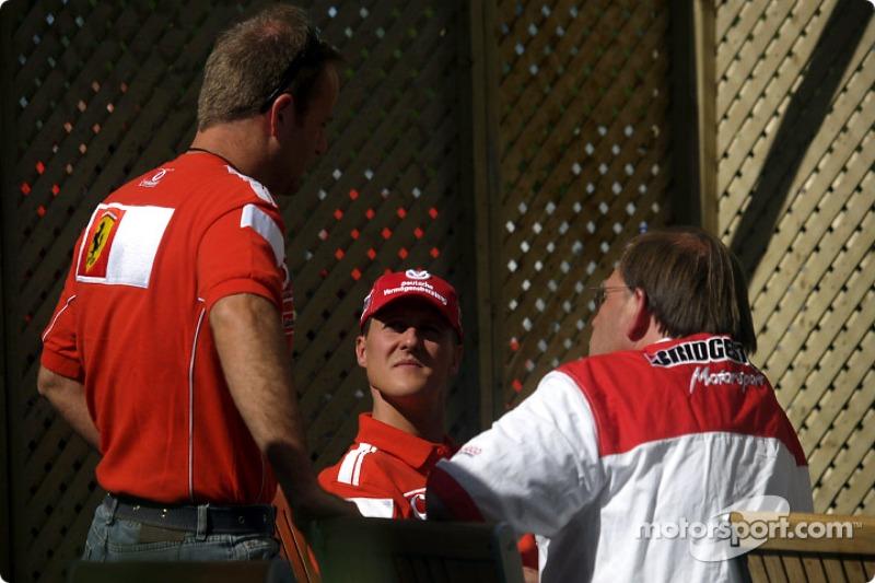 Rubens Barrichello y Michael Schumacher
