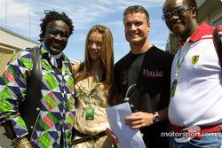 David Coulthard con Simone y amigos