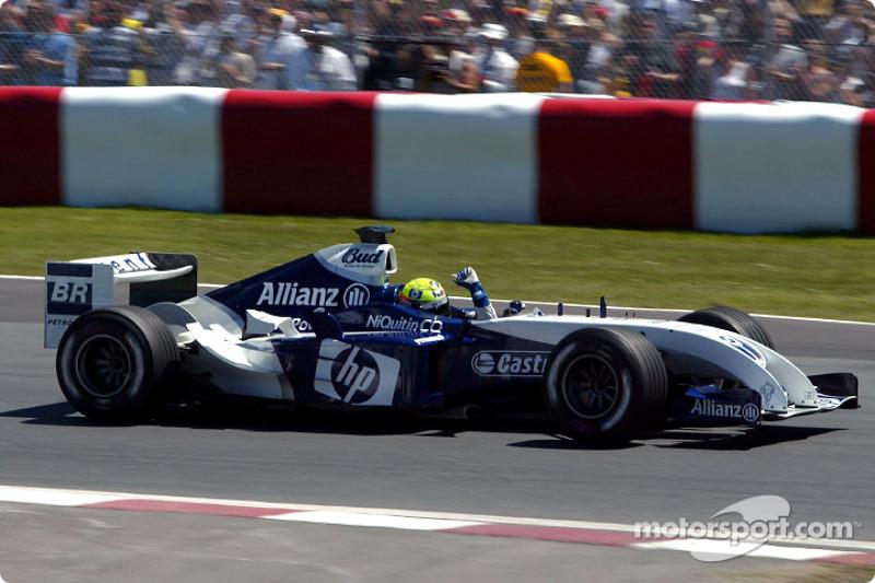 Ralf Schumacher celebra su pole position