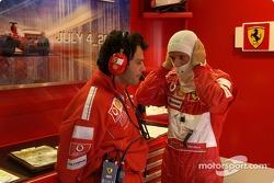 Rubens Barrichello and Gabrile delli Colli