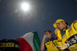 Giorgio Pantano on the starting grid