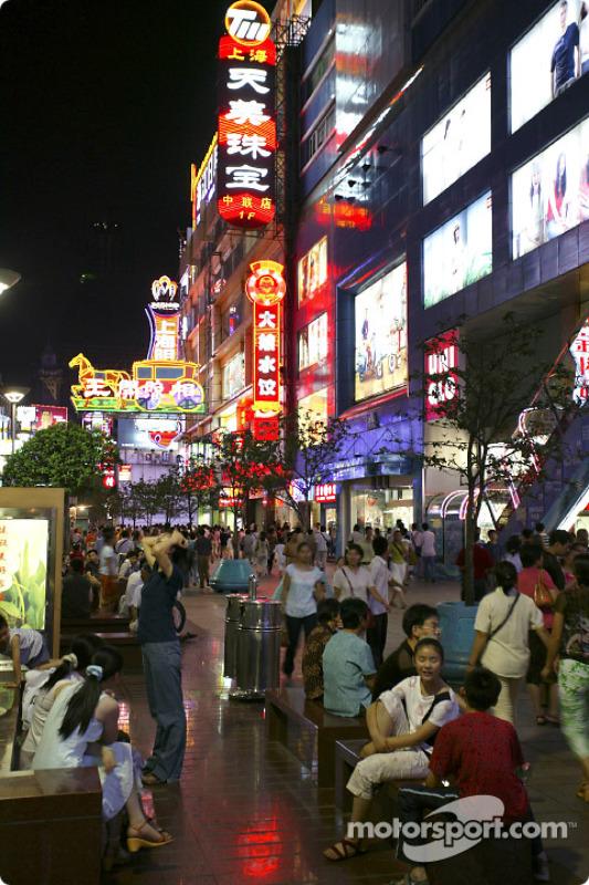 Nanjing Donglu Street de nuit