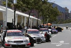 Audi works teams pit area