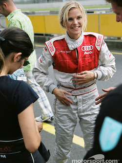 Singer Ana Johnsson tries the Audi race taxi
