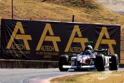 Toni Vilander drives the Minardi F1x2