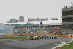 Green flag: Sébastien Bourdais takes the lead
