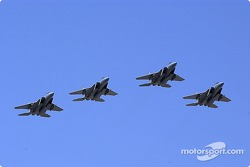 Flyover by the 390th Fighter Squadron, Mountain Home AFB, Idaho
