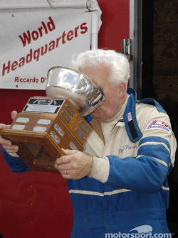 Dick Powers celebrates the Collier Cup with friends