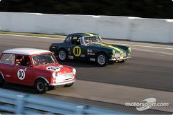 MG Midget and Austin Cooper S