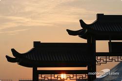 Sunset at Shanghai International Circuit